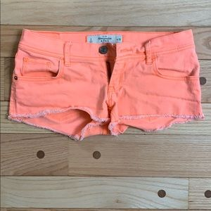 Abercrombie and Fitch Neon Shorts